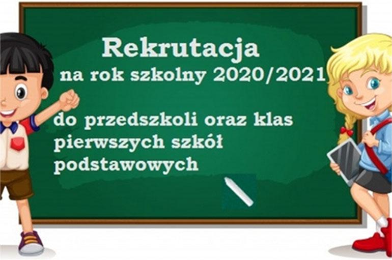 Rekrutacja do przedszkoli, szkół na rok szkolny 2020/2021
