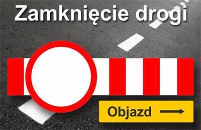 Zamknięcie drogi powiatowej Kruszyna – Borowno