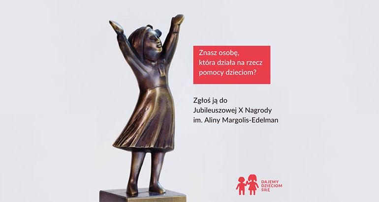 Ruszył nabór zgłoszeń do Jubileuszowej  X Nagrody im. Aliny Margolis-Edelman